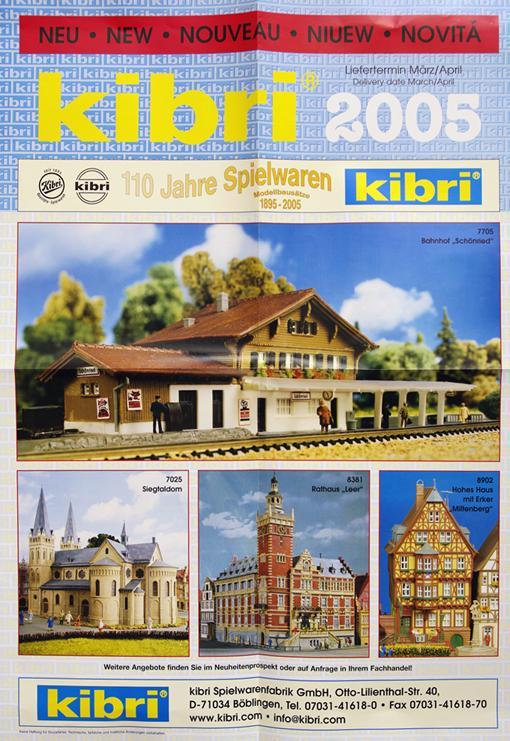 Артикул 3027-35  Рекламный плакат 110 лет KIBRI, 2005 год. Фотография выполнена с продаваемого плаката.