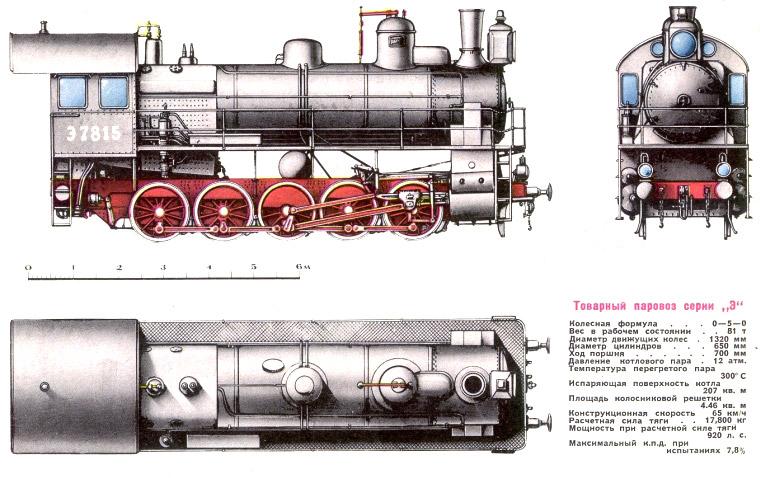 Товарный паровоз серии Э