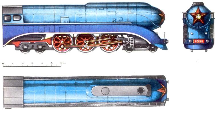 Курьерский паровоз типа 2-3-2В