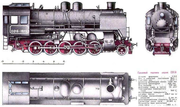 Грузовой паровоз серии СО18