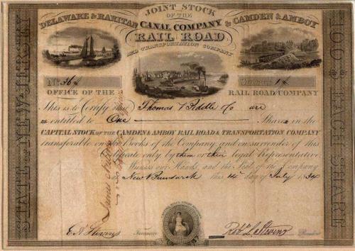 Акция объединенной компании С&A и D&R 1834 года