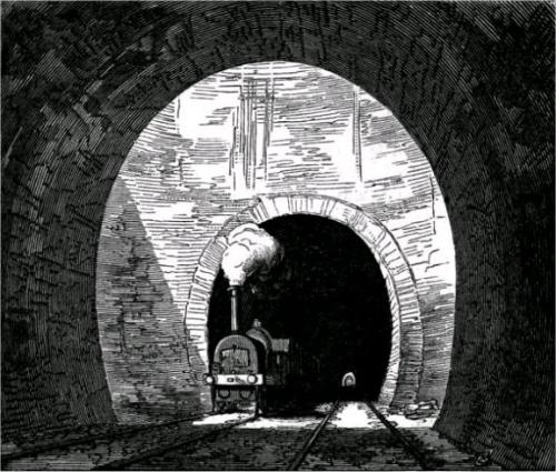 Туннель Килсби. Карандашный рисунок середины XIX века.