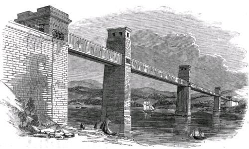 Britannia Bridge в XIX веке и в наши дни