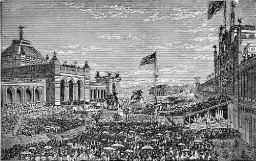 Церемония открытия United States Centennial Exposition 1876 года