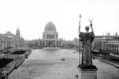 Общий вид территории World's Columbian Exposition. 1893 год