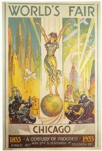 Рекламный постер выставки Столетие прогресса