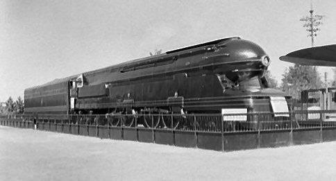Флагманский локомотив PRR на Всемирной ярмарке 1939-40 годов - экспериментальный S-1 6-4-4-6 streamliner