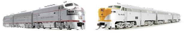 PCM EMD F3 A/B/A CB&Q и PCM ALCO PA/PB/PA D&RGW